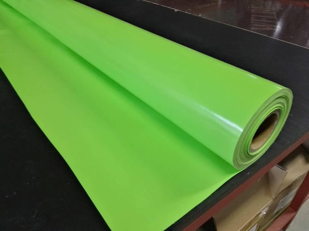 PVC plachtovina zelená shine