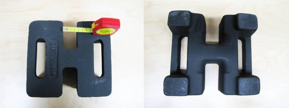 ocelové závaží pro prům. <37mm