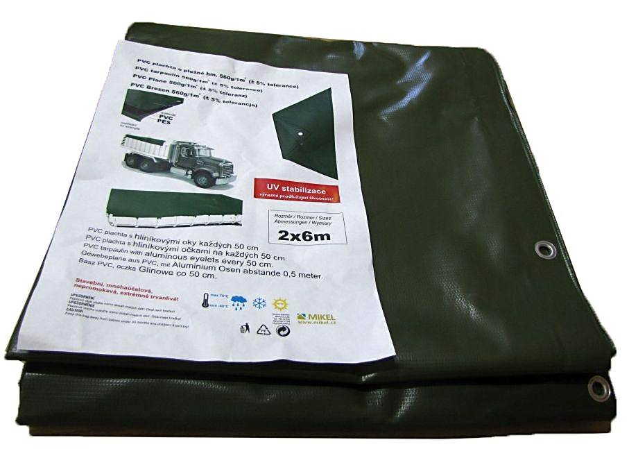 Krycí plachty s oky PVC 560g/1m²