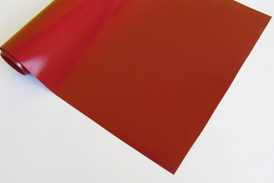 PVC plachtovina červená