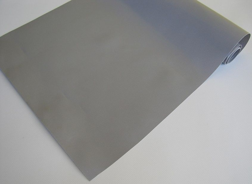 PVC plachtovina šedá