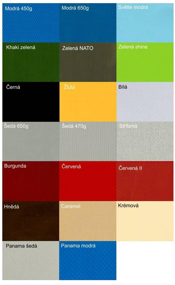 PVC plachtovina vzorník (turecký výrobce)