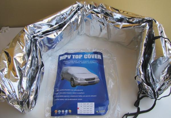 Plachta na auto - zakrytí střechy a skel