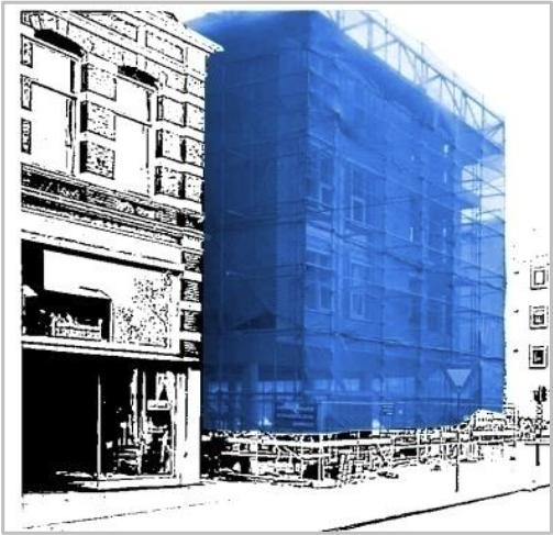 lešení modrá