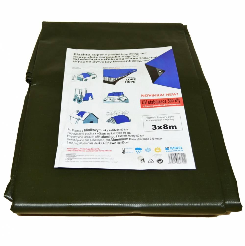 PE 200g/m2 olivově zelená/šedá