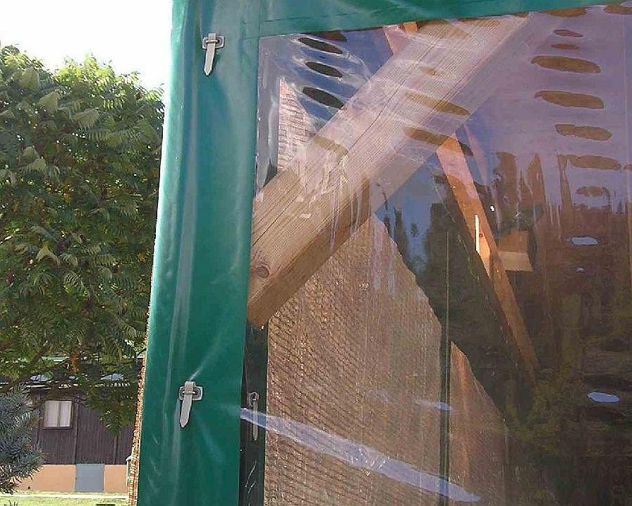 Výroba plachet z průhledné fólie PVC