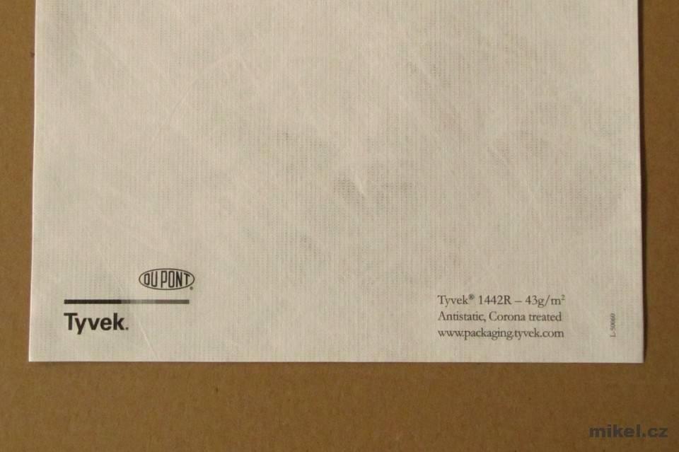 Tyvek (DuPont) netkaná textilie 1442R 43g/m² - cena za 1bm