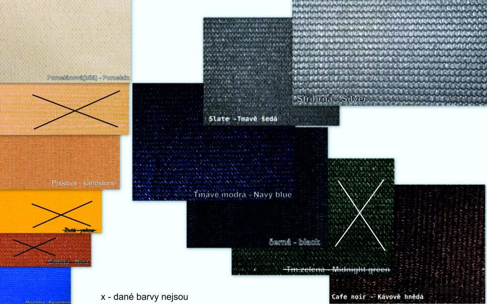 Stínící tkanina 230g/m² dostupné barvy