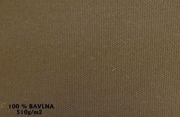 Bavlna 510g/m² khaki zelená