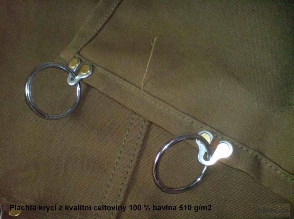 Ukázka plachy na zakázku - bavlna 510g/m² khaki zelená