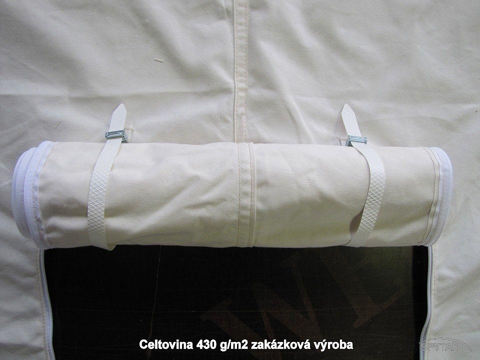 Výroba plachet 50% bavlna+50% PES 430g/m²