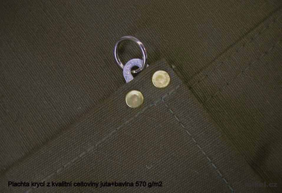 Výroba plachet 50% bavlna + 50% juta 570g/m²