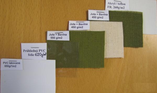 Nehořlavé tkaniny vzorník